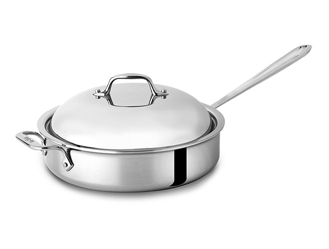 All-Clad d3 Stainless 4-quart Brown & Braise Saute Pan