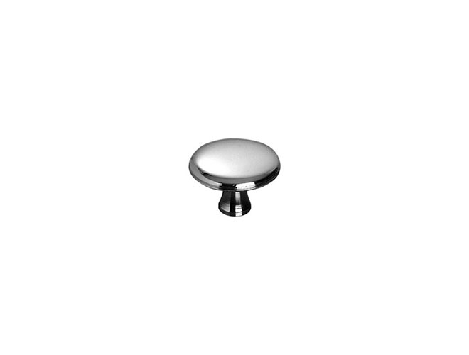 Staub Small Nickel Plated Brass Knob