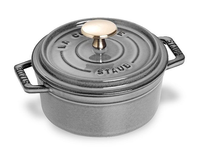 Staub 0.75-quart Graphite Gray Mini Round Dutch Oven
