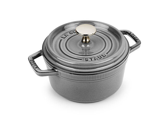 Staub 1.25-quart Graphite Gray Round Dutch Oven