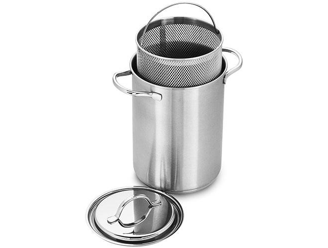 Demeyere Resto 4.8-quart Stainless Steel Pasta/Asparagus Pot with Fine Mesh Insert