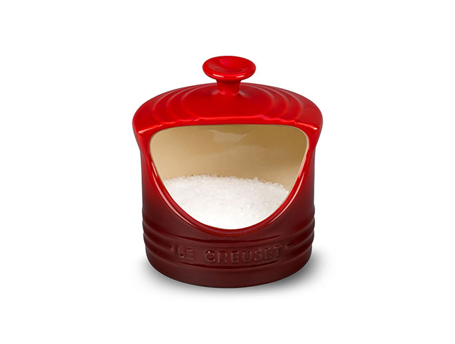Le Creuset Stoneware 10oz Cherry Red Salt Crock