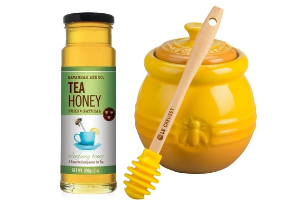 Le Creuset Stoneware Dijon Honey Pot Gift Set