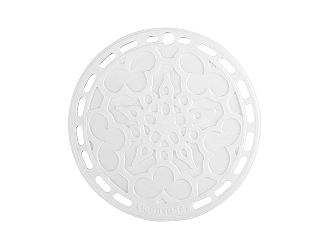 "Le Creuset Silicone 8"" White Silicone French Trivet"