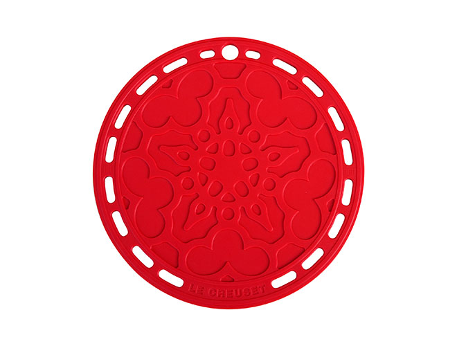 "Le Creuset 8"" Cherry Red Silicone French Trivet"