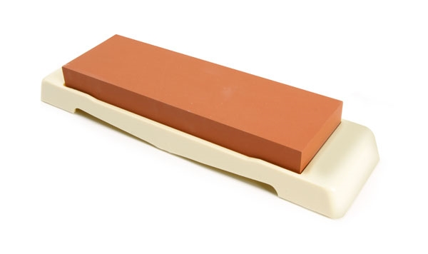 "Tojiro 7x2.25x0.5"" 1000 Grit Water Stone with Base"