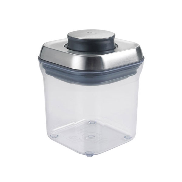 Oxo Steel Pop Big Square Container 2 4 Quart Cutlery