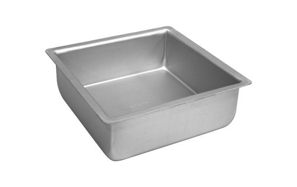 "Fat Daddios 10x10x3"" Anodized Aluminum Square Cake Pan"