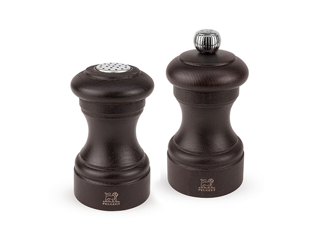 Peugeot Bistro Chocolate 3.5-inch Salt Shaker & 4-inch Pepper Mill Set