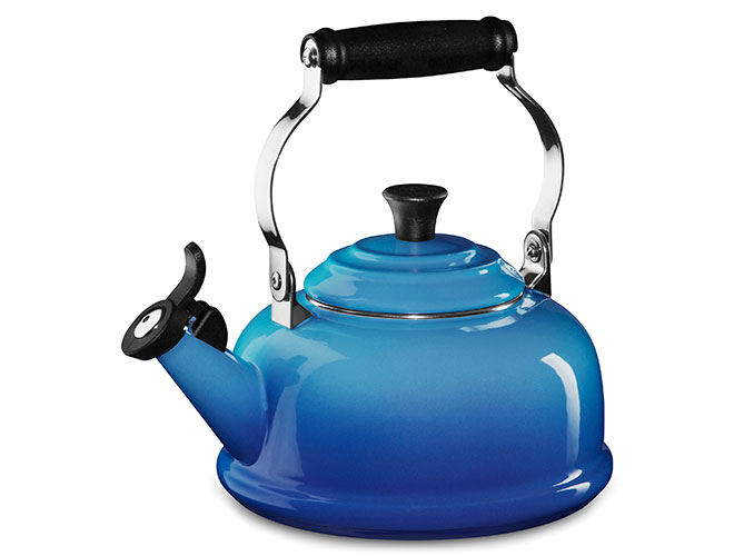 Le Creuset Enameled Steel 1.8 Quart Whistling Tea Kettles