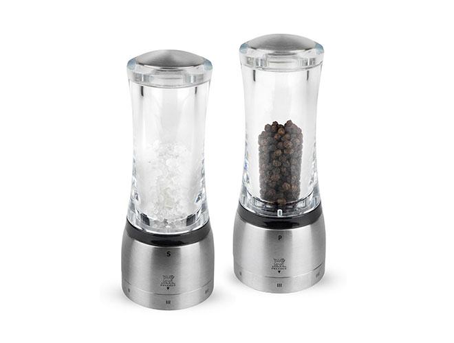 Peugeot Daman u'Select Acrylic & Stainless Steel Salt & Pepper Mill Sets