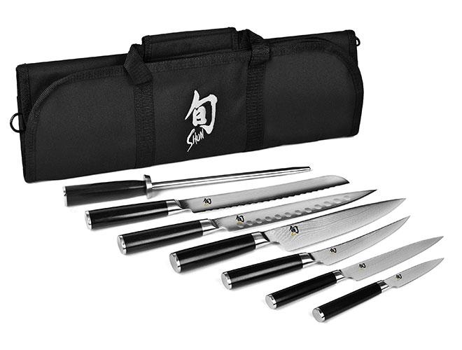 Shun Classic 8 Piece Knife Roll Set