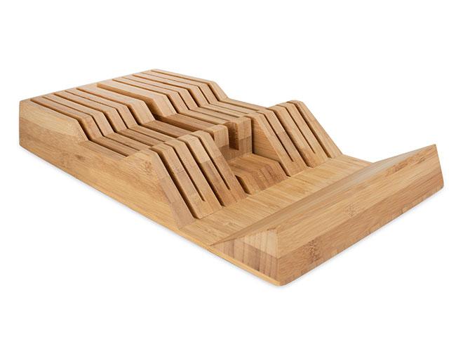 Shun 11 Slot Bamboo In-Drawer Knife Storage Tray