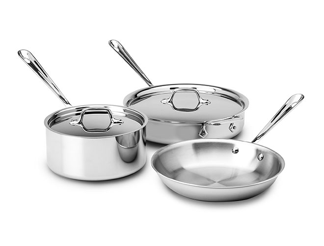 All-Clad d3 Stainless 5 Piece Starter Cookware Set