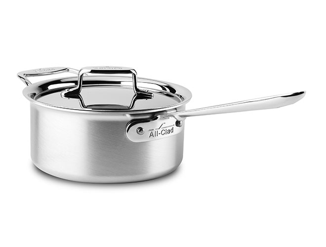 All-Clad d5 Brushed Stainless Saucepans with Loop Handle