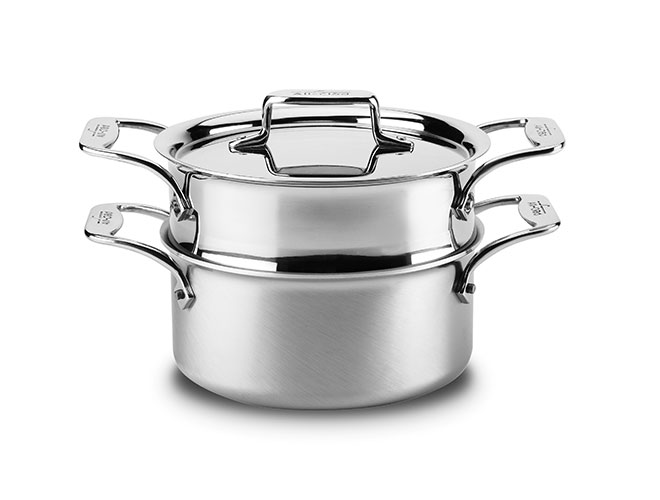 All-Clad d5 Brushed Stainless 3-quart Casserole with Steamer Insert