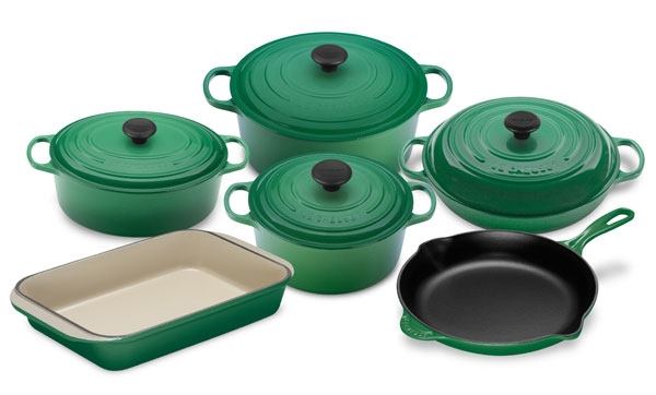 Le Creuset Signature Cast Iron Cookware Set 10 Piece
