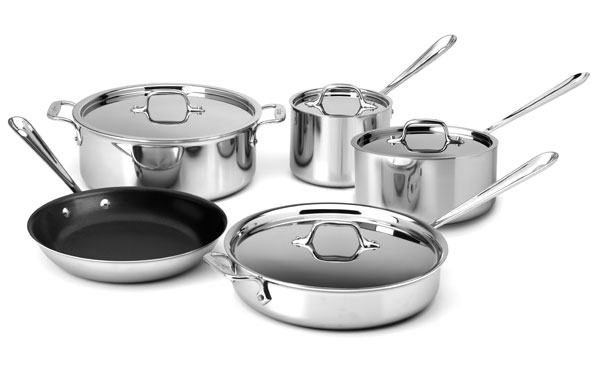 All Clad D3 Stainless Cookware Set 9 Piece Cutlery And More