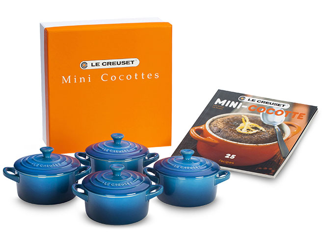 Le Creuset Stoneware 5-piece Mini Cocotte & Cookbook Sets