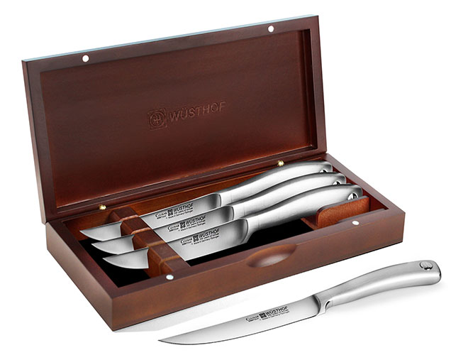 Wusthof Culinar PEtec Steak Knife Sets with Wood Case