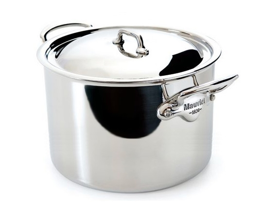 Mauviel M'cook Stainless Steel 9.1-quart Single-Ply Stock Pot