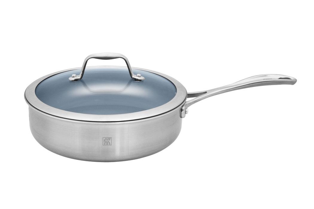 Zwilling J.A. Henckels Spirit 3-quart Stainless Steel Ceramic Nonstick Saute Pan