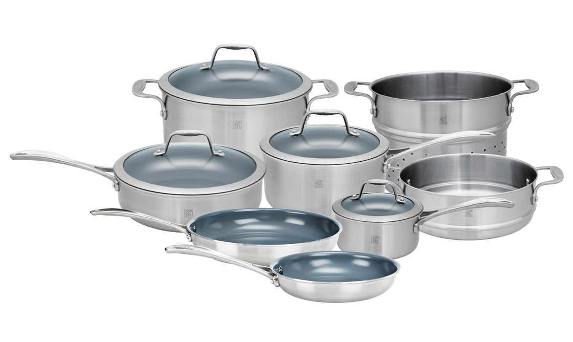 Zwilling J.A. Henckels Spirit 12 Piece Stainless Steel Ceramic Nonstick Cookware Set
