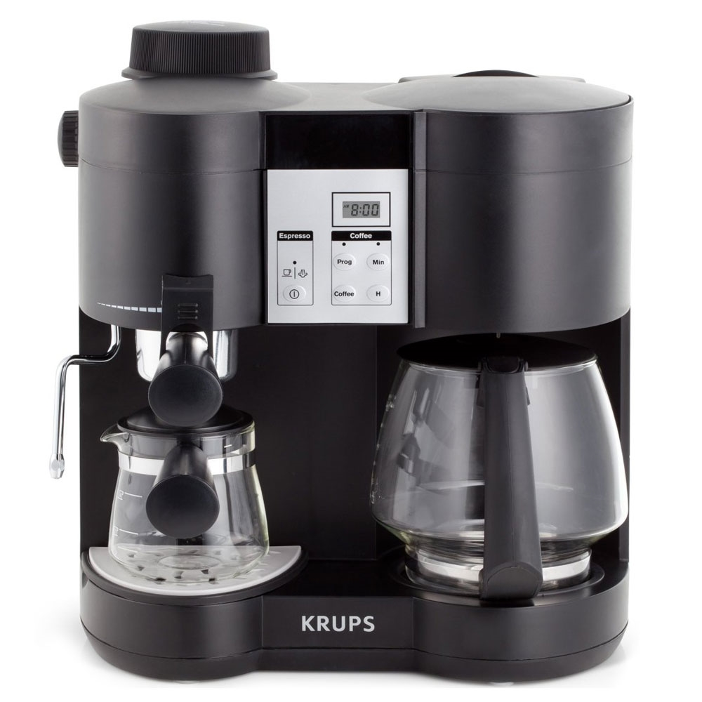 krups combination coffee maker espresso machine. Black Bedroom Furniture Sets. Home Design Ideas