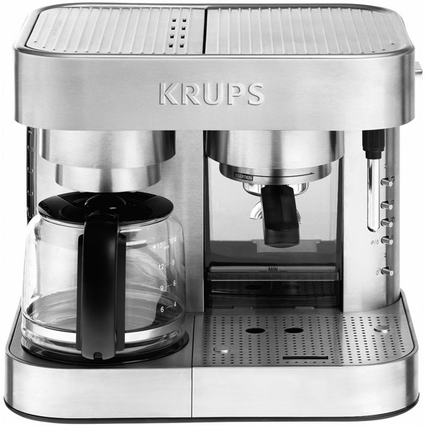 Krups Stainless Steel Thermoblock Combination Coffee Maker