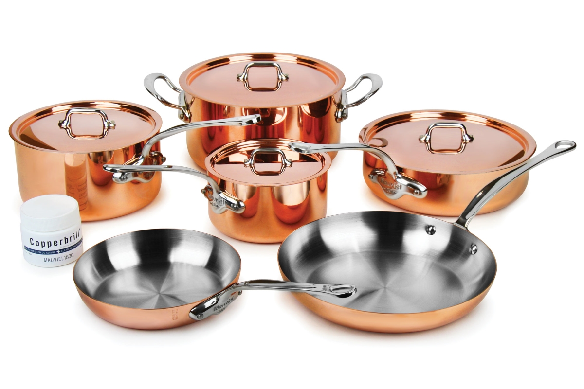 Mauviel M'heritage 150S 10 Piece Copper Cookware Set