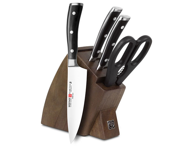 Wusthof Classic Ikon 5 Piece Walnut Studio Knife Block Set