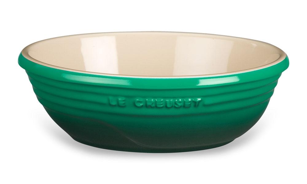Le Creuset Stoneware Oval Serving Bowl 3 5 Quart Fennel