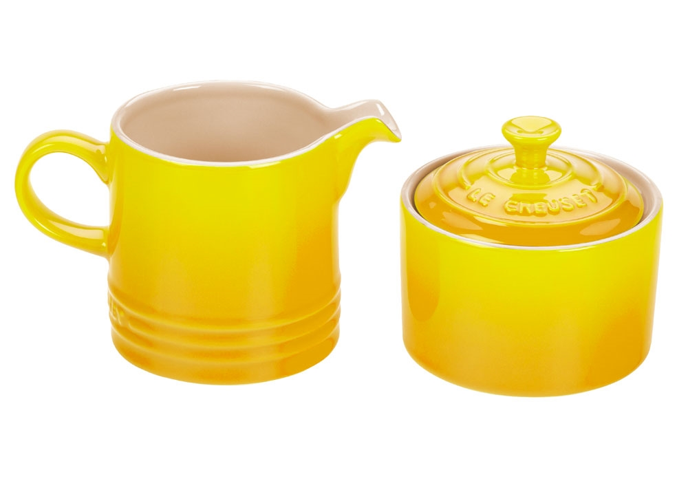 Le Creuset Stoneware Soleil Cream & Sugar Set