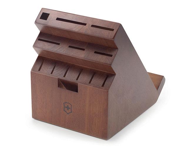 Victorinox 13 Slot Walnut Swivel Knife Block