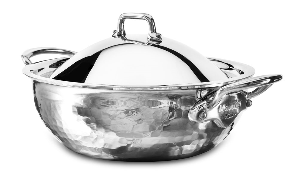 Mauviel M'elite Hammered Stainless Steel 1.7-quart Casserole