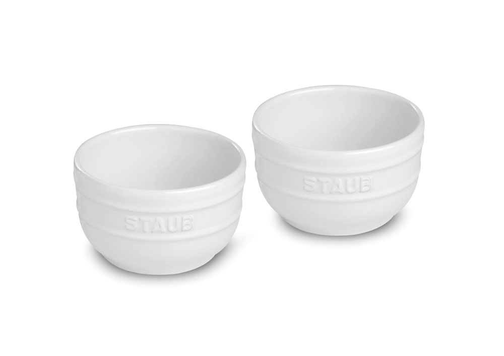 Staub Ceramic 2 Piece White Prep Bowl Set