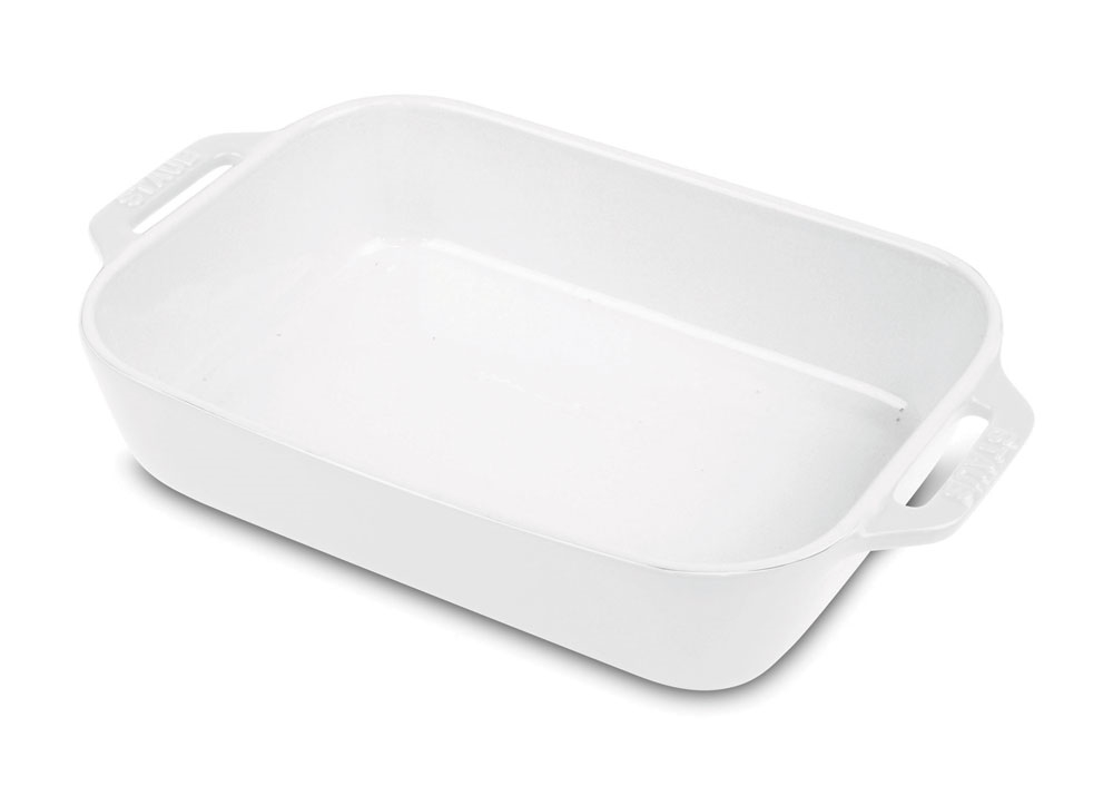 Staub Ceramic Rectangular Baking Dish 10 5x7 5 Quot White