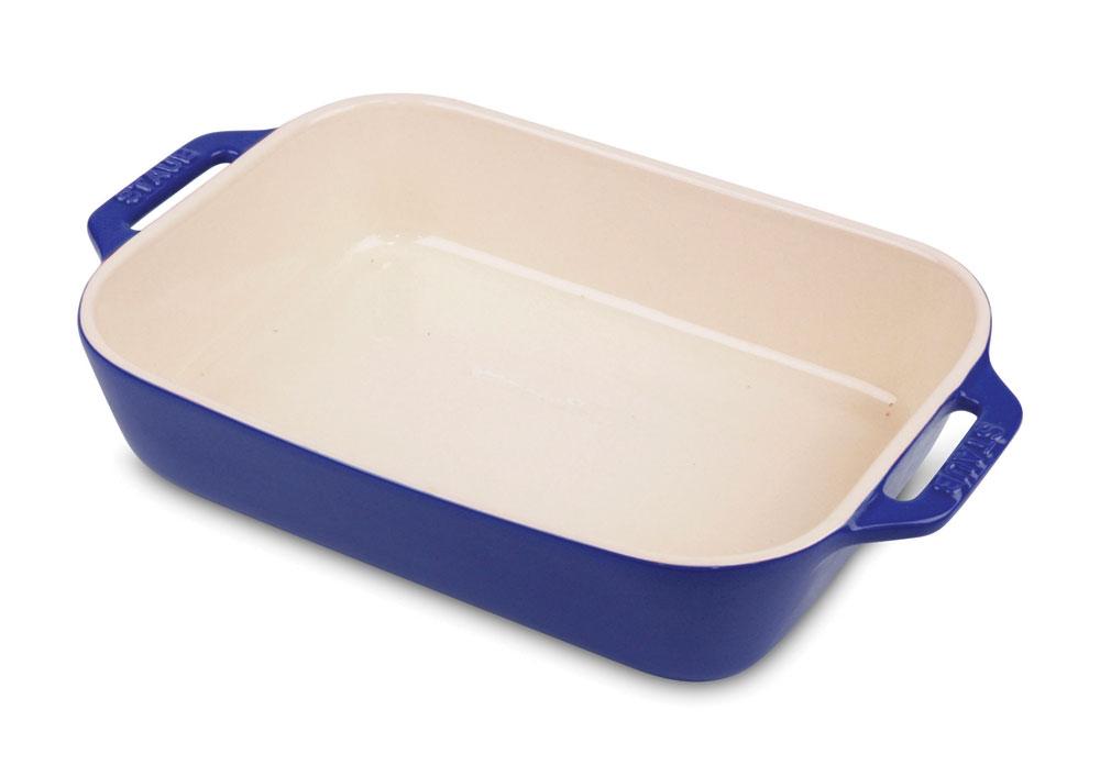 Staub Ceramic Rectangular Baking Dish 10 5x7 5 Quot Sapphire