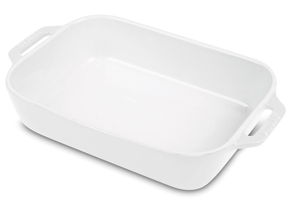 Staub Ceramic Rectangular Baking Dish 13x9 Quot White