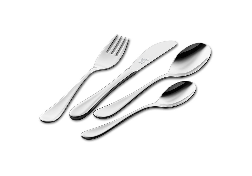 Zwilling J.A. Henckels 4 Piece Filou Stainless Steel Place Setting for Kids
