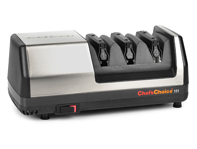 Chef's Choice 3 Stage Model 151 Stainless Steel Universal Electric Knife Sharpener