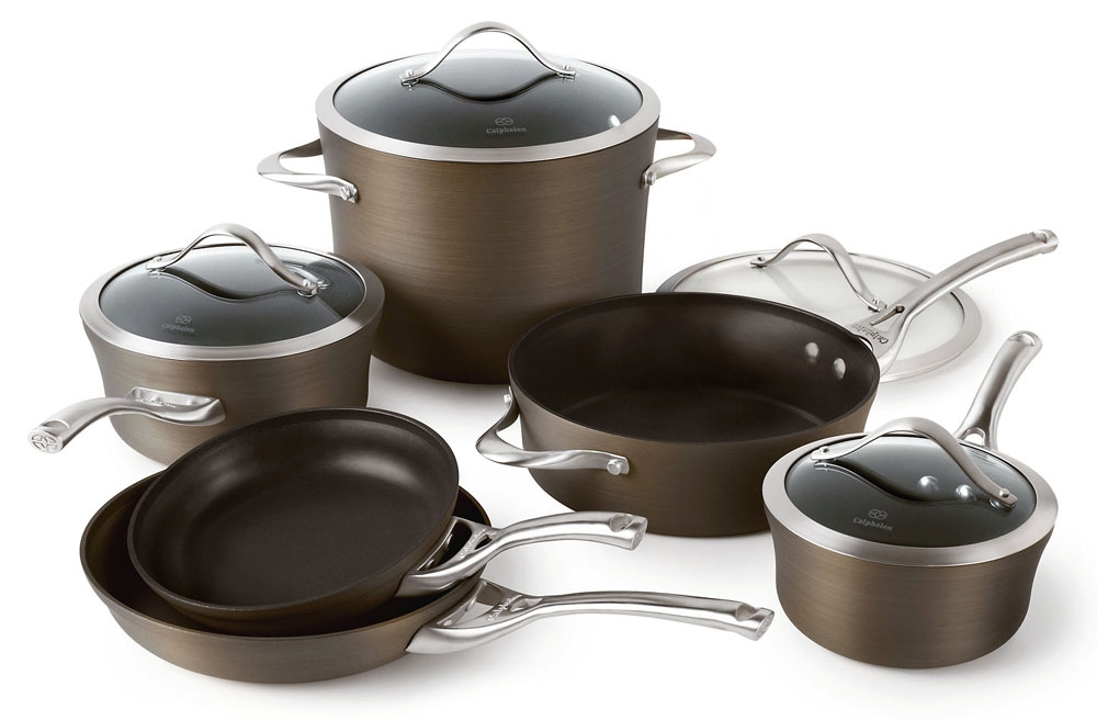 Calphalon® contemporary nonstick bronze anodized edition 10-piece.
