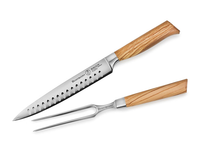 Messermeister Oliva Elite 2 Piece Hollow Edge Carving Set