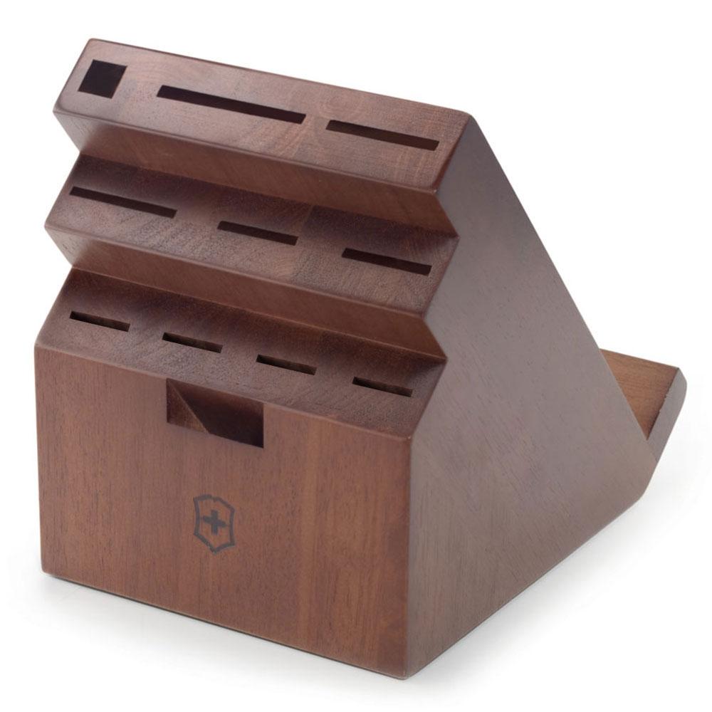 Victorinox 11 Slot Walnut Swivel Knife Block