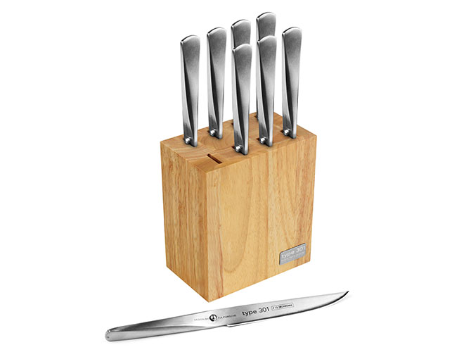 Chroma Type 301 Steak Knife Sets with Bonus Block