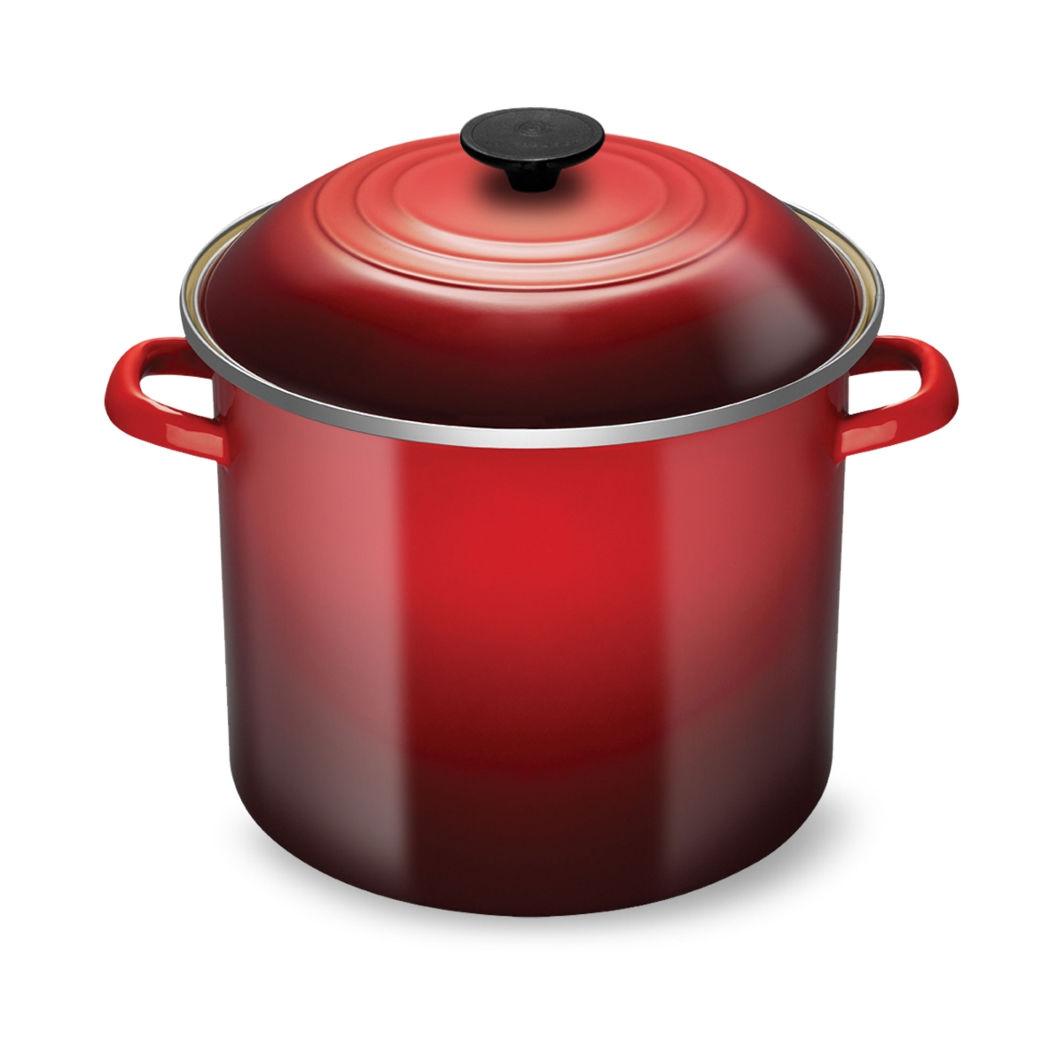 Le Creuset Enameled Steel 10-quart Cherry Red Stock Pot