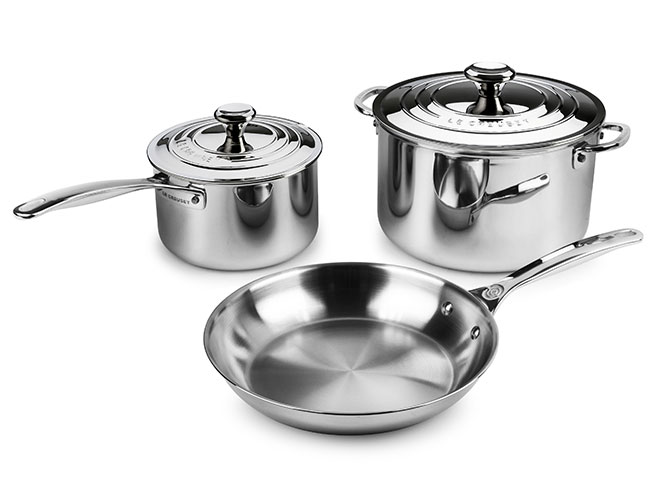 Le Creuset Stainless Steel 5 Piece Cookware Set