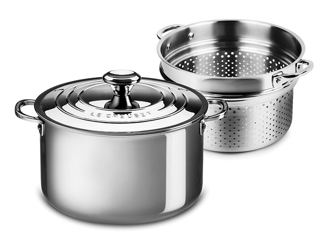Le Creuset Stainless Steel 9-quart Stockpot with Pasta/Colander Insert