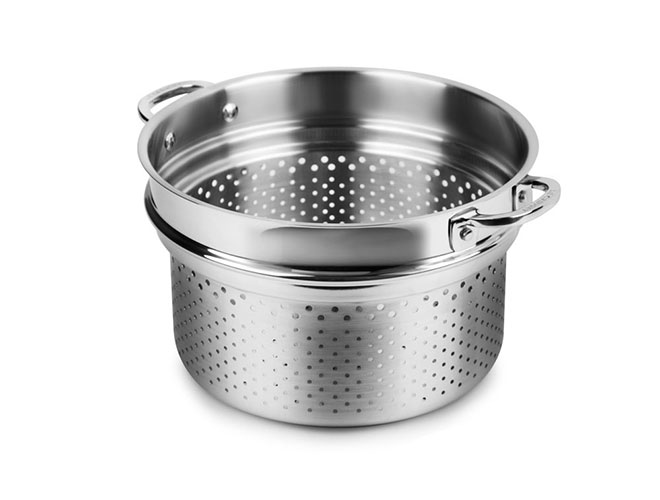 "Le Creuset Stainless Steel 10"" Pasta/Colander Insert"