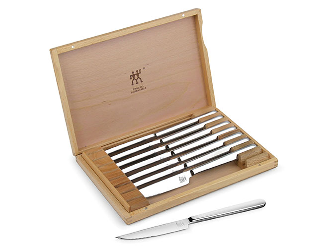 Zwilling J.A. Henckels 8 Piece Stainless Steel Steak Knife Set with Case